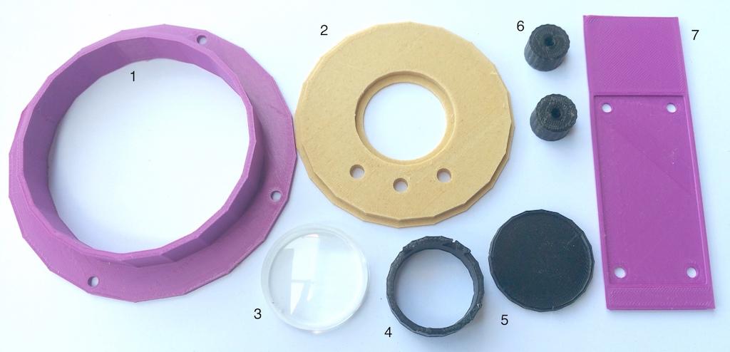 3D-Druck Video-Nistkasten - die Einzelteile