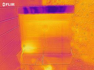 Wärmekamera-Bild, Position der Honigbienen