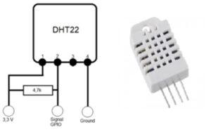 Feuchtesensor DHT22 Beschaltung