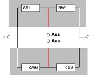 Brückenschaltung mit zwei preiswerten Wägezellen