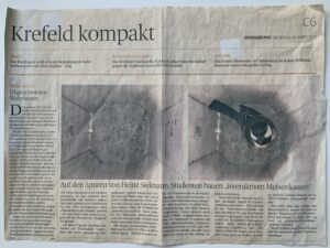 Artikel Rheinische Post Krefeld auf den Spuren von Heinz Sielmann