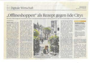 Rheinische Post Offlineshoppen als Rezept gegen öde Citys