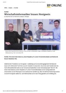 RP Online Krefeld- Wirtschaftsinformatiker brauen Honigwein