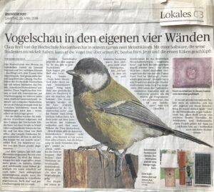 Artikel RP Vogelschau in den eigen vier Waenden