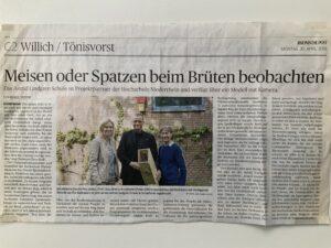 Artikel RP Meisen oder Spatzen beim Brüten beobachten Astrid Lindgren Schule