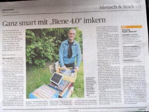 Rheinische Post: ganz smart mit Biene40 imkern