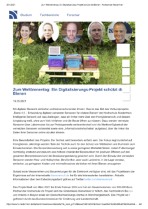 Pressemitteilung Binen Digitalisierungsprojekt